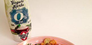 ensalada fitness salsa de yogur